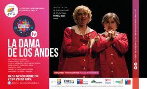 AFICHE OBRA LA DAMA DE LOS ANDES EN FINTDAZ 2020 ON LINE