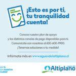 """Aguas del Altiplano lanza campaña """"Esto es por ti. Tu tranquilidad cuenta"""""""