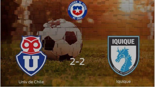 Deportes Iquique no pudo ganarle a la U y sigue colista en la tabla ponderada