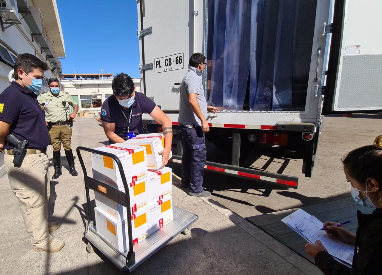 Llega nueva remesa de  vacunas contra COVID-19 a Tarapacá