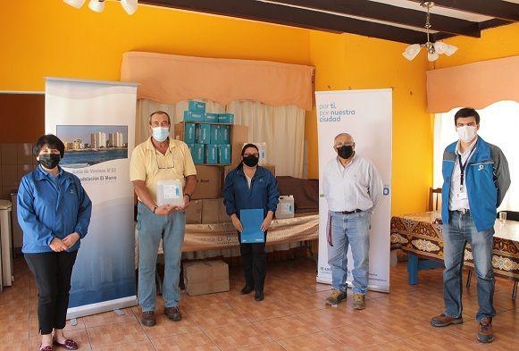 """Aguas del Altiplano entrega aporte a vecinos del sector """"Remodelación El Morro"""""""