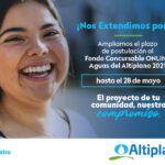 Hasta las 18:00 horas del viernes 28 de mayo | Aguas del Altiplano anuncia extensión  de plazo para Fondo Concursable