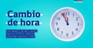 Mañana sábado se cambia la hora en Chile | una hora más de tuto ya que no se puede carretear
