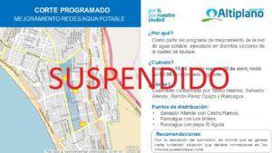 Aguas del Altiplano  suspende corte programado para sector alto de la ciudad de Iquique