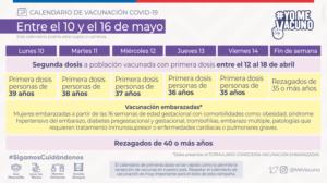 redes sociales calendario vacunacion SEMANA 15 10 DE MAYO redes sociales vacunacion semana 15 10 mayo tw