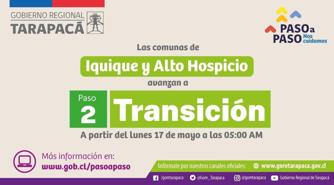 Por fin termina cuarentena : Iquique y Alto Hospicio pasan a Transición