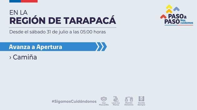Covid-19 TV: Camiña avanza a fase 4 de Apertura