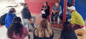 Director regional en reunión con comerciantes efactados por incendio 2