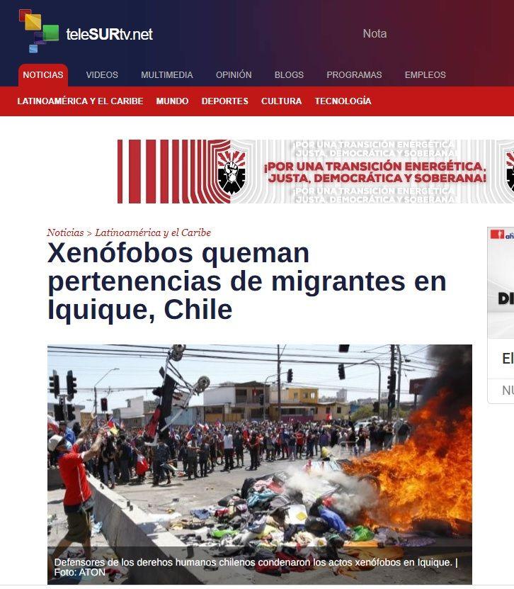 Iquique quedó como chaleco de mono | Medios internacionales reaccionan  a imágenes de marcha contra migración