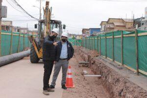 Aguas del Altiplano inicia renovación de colector público en avenida Los Cóndores de Alto Hospicio