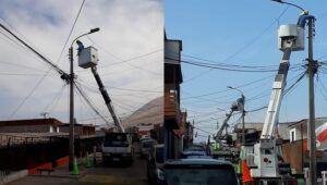 CGE avanza en plan de mantención de redes en Iquique con trabajos programados en sector de calles Dieciséis de Julio y Castro Ramos